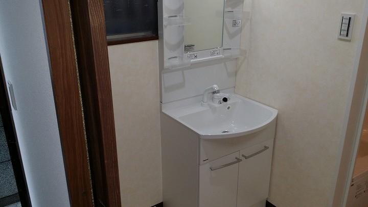 水廻り入替とトイレ移設で浴室が広くなりました!