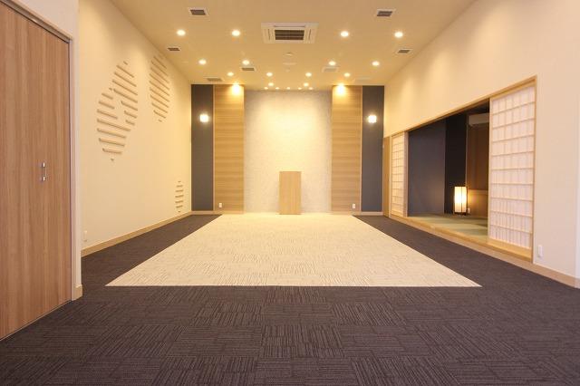 和を基調とした温かみのあるホール